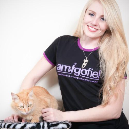 Adestradora + gato