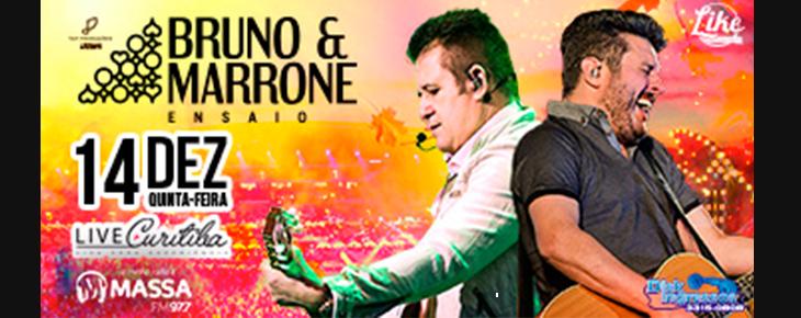 Bruno e Marrone com seu show ENSAIO na Live