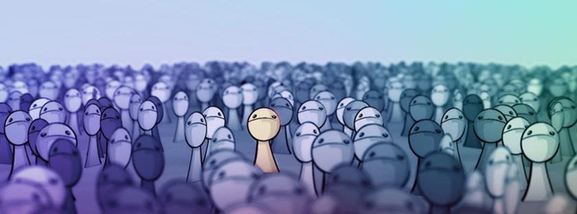 Sozinha na multidão