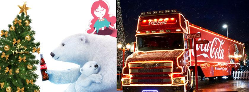 É hoje! Caravana de Natal Coca-Cola junto ao Clube da Alice!