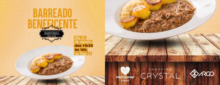 Shopping Crystal promove barreado beneficente em prol do Provopar